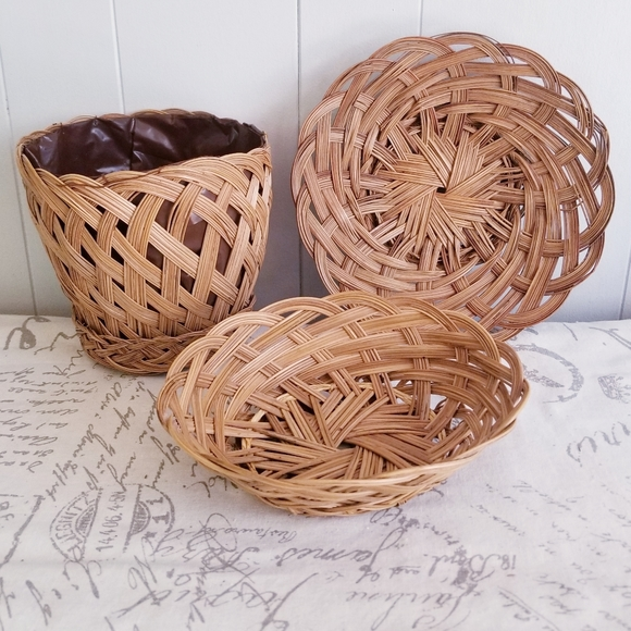 Collection of 3 Boho Baskets
